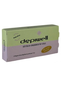 Depiwell-Depiwell Strisce Depilatorie Viso 6 pz